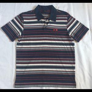 Striped Oakley Men's Small Polo